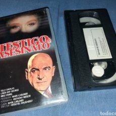 Cine: TESTIGO DE ASESINATO- SHE CRIED MURDER (1973)- VHS- TELLY SABALAS- (UNICA) NUNCA EN DVD. Lote 222126703