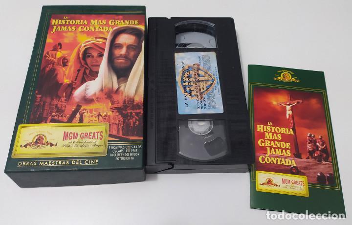 Cine: PELICULA VHS LA HISTORIA MAS GRANDE JAMAS CONTADA - EDICION ESPECIAL - Foto 2 - 222331826