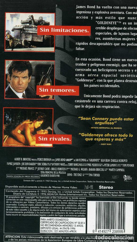 Cine: 007 - GOLDENEYER (CINTA VHS) - Foto 2 - 222733892