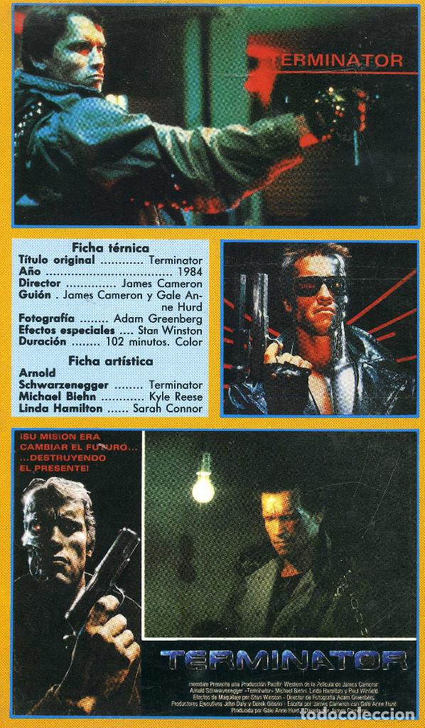 Cine: TERMINATOR (CINTA VHS) - Foto 2 - 222734078