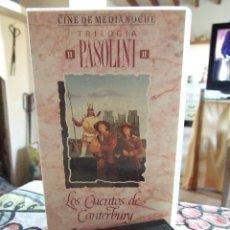 Cine: LOS CUENTOS DE CANTERBURY - TRILOGIA PASOLINI - WARNER 1990. Lote 222839030