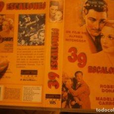 Cine: PELICULA VHS, 39 ESCALONES. Lote 222849548