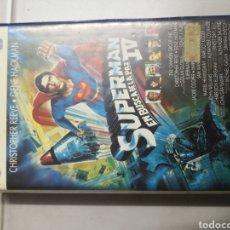 Cine: VHS SUPERMAN EN BUSCA DE LA PAZ IV (1° EDICIÓN, RARE). Lote 244399905