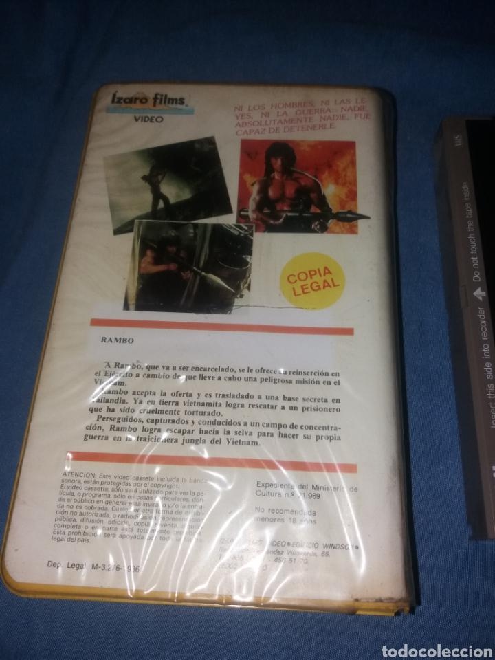 Cine: RAMBO - EL ACORRALADO 2- VHS- 1ª EDICION - Foto 2 - 287784468