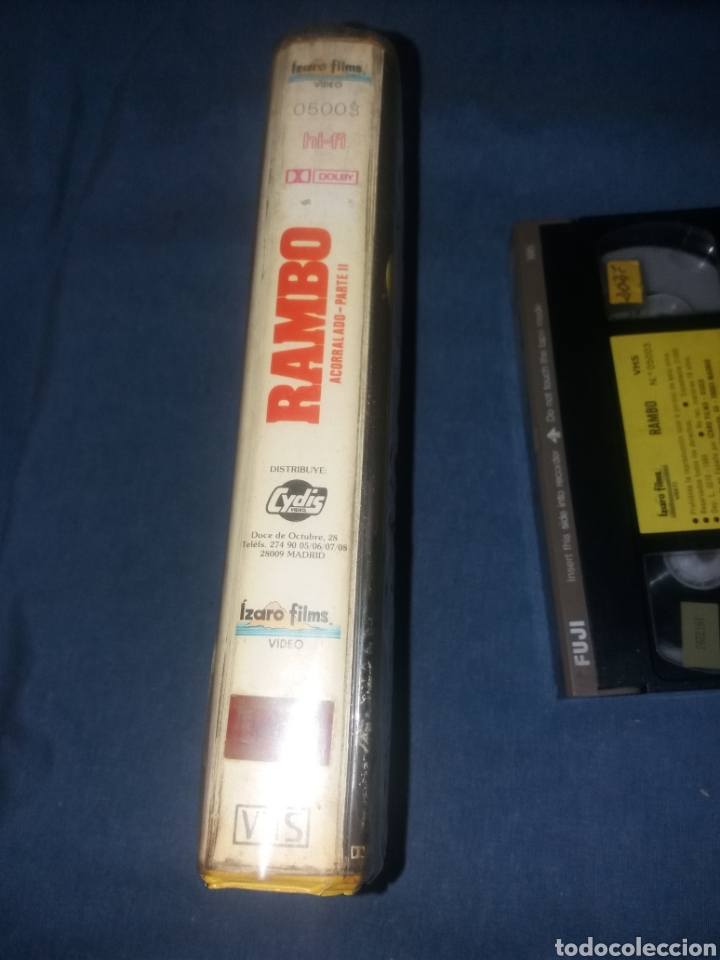 Cine: RAMBO - EL ACORRALADO 2- VHS- 1ª EDICION - Foto 3 - 287784468