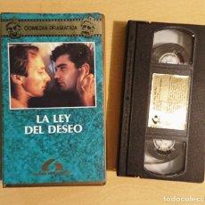 Cine: LA LEY DEL DESEO · PELÍCULA VHS · PEDRO ALMODOVAR · EUSEBIO PONCELA CARMEN MAURA. Lote 224212441