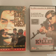 Cine: LOTE 2 VHS JOHN WOO - UNA BALA EN LA CABEZA Y THE KILLER. Lote 224847616