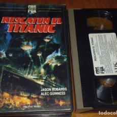 Cine: RESCATEN EL TITANIC - JASON ROBARDS, ALEC GUINNESS - VHS. Lote 225262165
