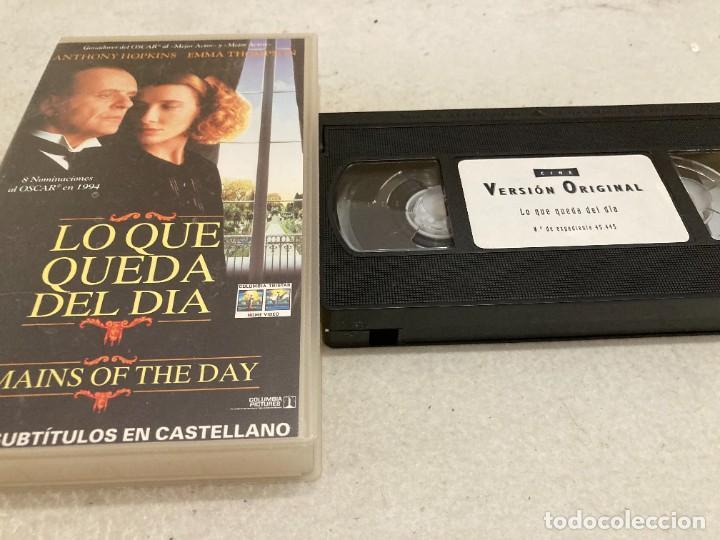VHS ORIGINAL / LO QUE QUEDA DEL DIA (V.ORIG SUBTITULADA EN CASTELLANO) (Cine - Películas - VHS)