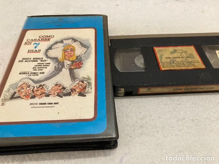 VHS ORIGINAL / COMO CASARSE EN 7 DIAS (Cine - Películas - VHS)
