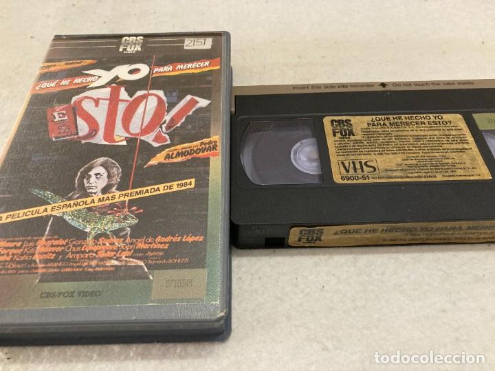 VHS ORIGINAL / ¿QUE HE HECHO YO PARA MERECER ESTO? (Cine - Películas - VHS)