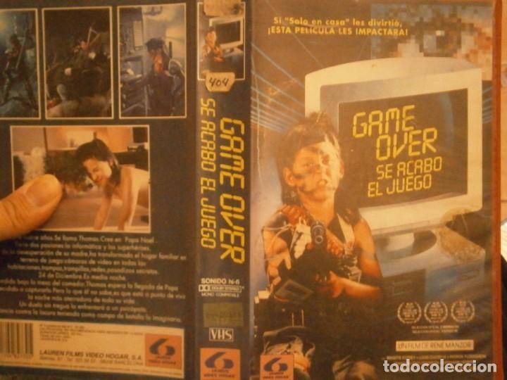 GAME OVER SE ACABO EL JUEGO¡¡VHS CAJA GRANDE¡¡ (Cine - Películas - VHS)
