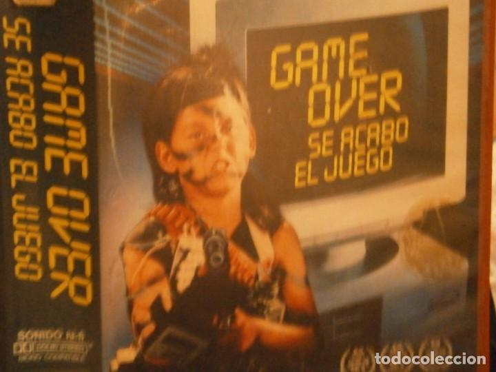 Cine: game over se acabo el juego¡¡vhs caja grande¡¡ - Foto 2 - 226130803