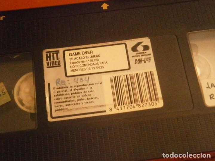 Cine: game over se acabo el juego¡¡vhs caja grande¡¡ - Foto 5 - 226130803