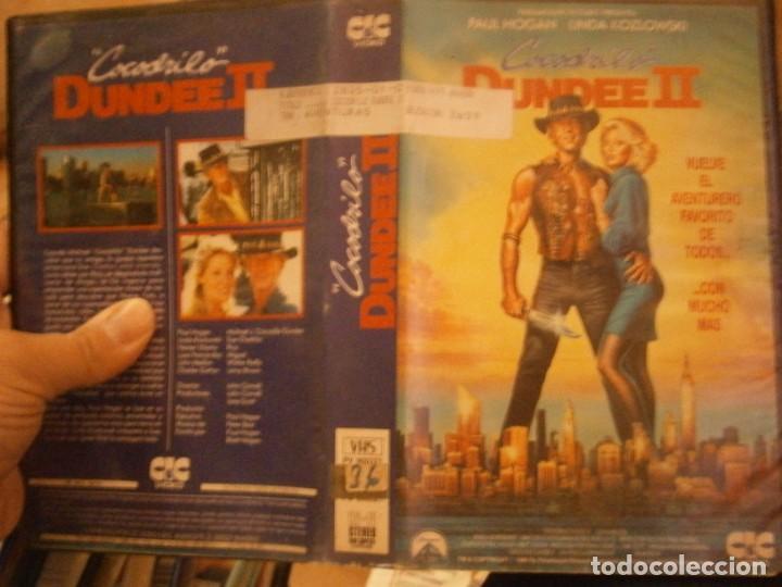 COCODRILO DUNDEE¡¡VHS CAJA GRANDE¡¡ (Cine - Películas - VHS)