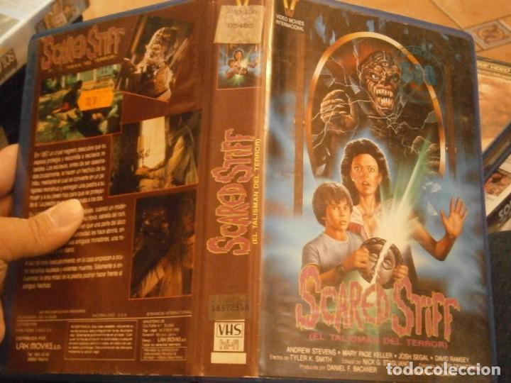 SCARED STIFF,EL TALISMAN DEL TERROR,VHS CAJA GRANDE¡¡ (Cine - Películas - VHS)