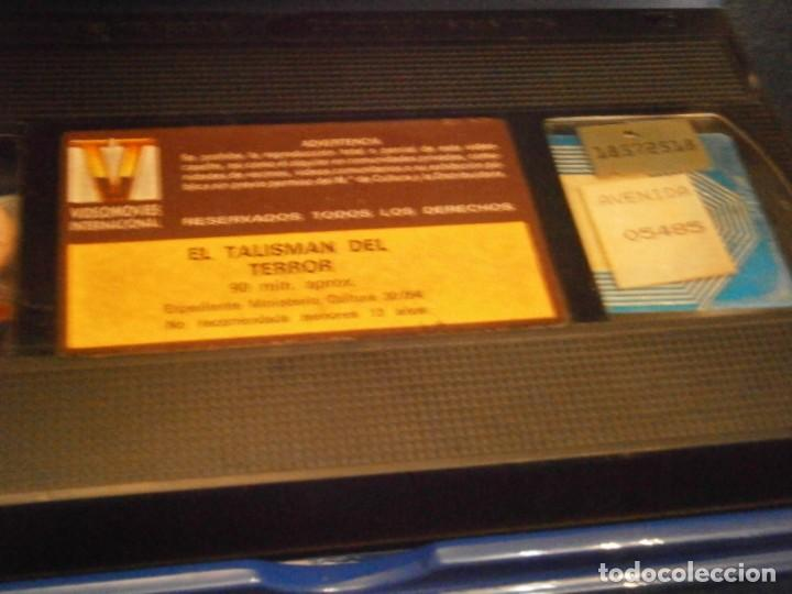 Cine: scared stiff,el talisman del terror,vhs caja grande¡¡ - Foto 4 - 226139610