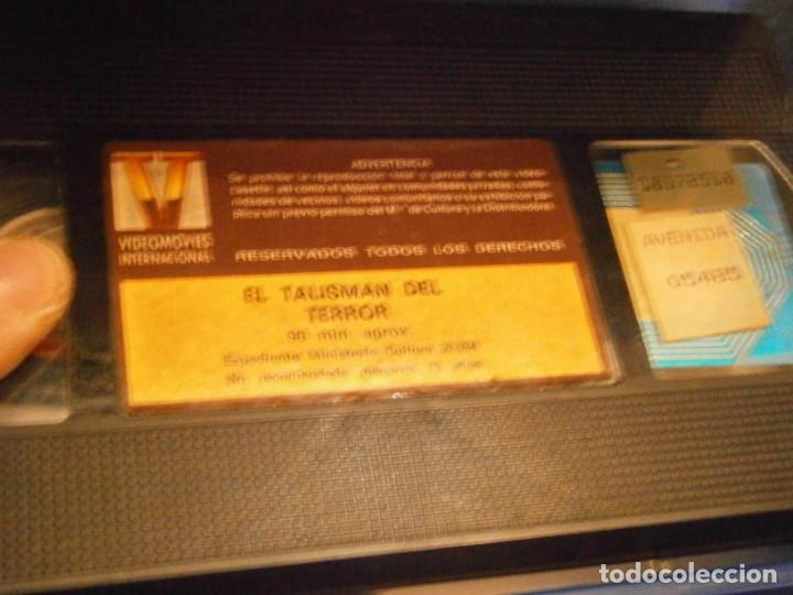 Cine: scared stiff,el talisman del terror,vhs caja grande¡¡ - Foto 5 - 226139610