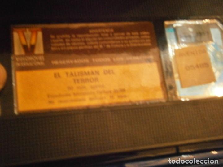 Cine: scared stiff,el talisman del terror,vhs caja grande¡¡ - Foto 6 - 226139610