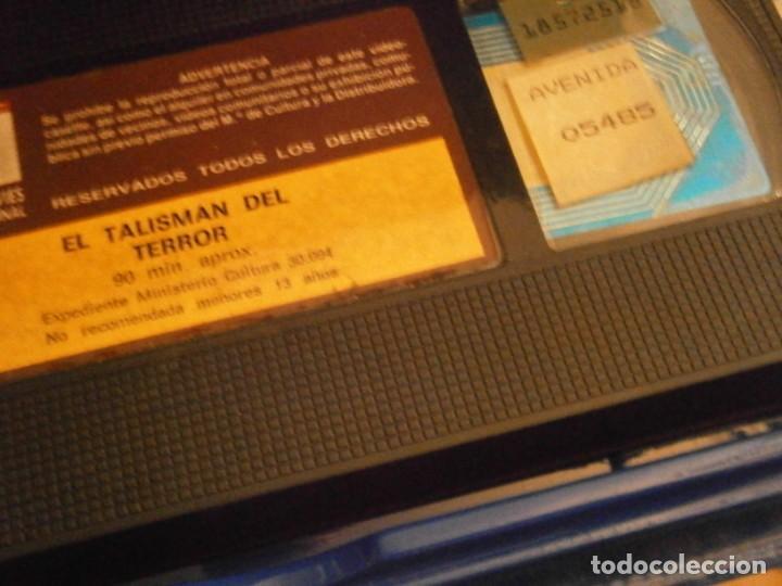 Cine: scared stiff,el talisman del terror,vhs caja grande¡¡ - Foto 7 - 226139610