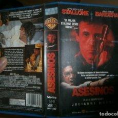 Cine: PELICULA VHS, ASESINOS. Lote 228070330