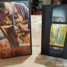Cine: LA MATANZA DE TEXAS. VHS ORIGINAL. Lote 228212125