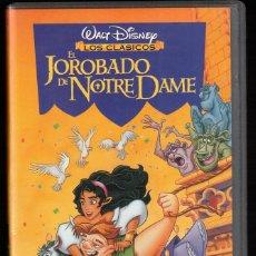 Cine: EL JOROBADO DE NOTRE DAME - VHS - CLASICOS WALT DISNEY. Lote 288688923