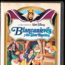 Cine: BLANCANIEVES Y LOS SIETE ENANITOS - VHS - WALT DISNEY. Lote 288689393