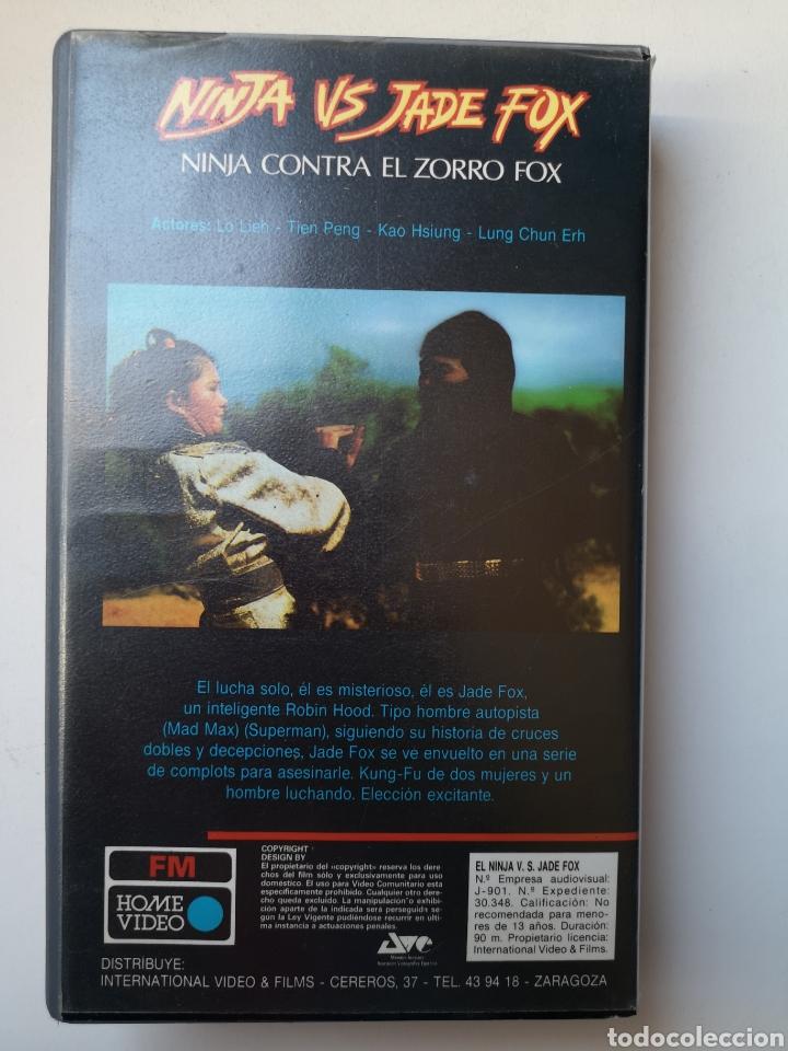 Cine: NINJA VS JADE FOX CINE ARTES MARCIALES VHS - Foto 2 - 231597175