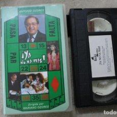 Cine: VHS YA NO VA MAS FEDRA LORENTE ANTONIO OZORES. Lote 234955795