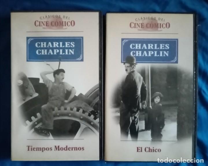 Cine: VHS Películas. 2 cintas de vídeo de (Charlie) Charles Chaplin. Charlot. El Chico 1921 y Tiempos Mode - Foto 2 - 235058810
