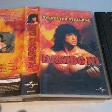 Cine: RAMBO III (3) (1988) - PETER MACDONALD SYLVESTER STALLONE RICHARD CRENNA VHS. Lote 235392250