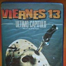 Cine: VIERNES 13 ÚLTIMO CAPÍTULO - VHS. Lote 235933990