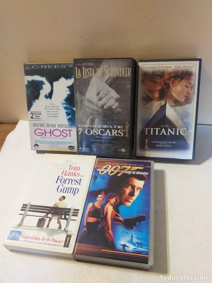 Cine: LOTE DE CINCO PELICULAS VHS: GHOST, TITANIC, FOREST GUMP, LA LISTA DE SCHINDLER... - Foto 2 - 236053760