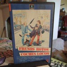 Cine: FRENOS ROTOS COCHES LOCOS - BOB GALE - KURT RUSSELL , GERRIT GRAHAM - RCA 1990 CARATULA RECORTADA. Lote 236248050