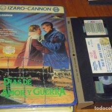 Cine: DIAS DE AMOR Y GUERRA - ERIC FABER - IZARO CANNON CAJA GRANDE - VHS. Lote 236770175
