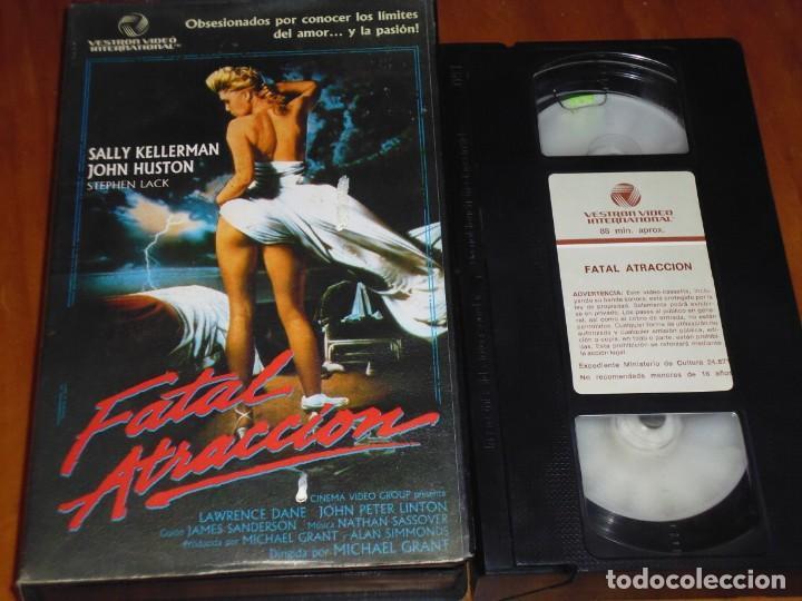 FATAL ATRACCION - SALLY KELLERMAN, JOHN HUSTON, STEPHEN LACK - THRILLER - SUSPENSE - EROTISMO - VHS (Cine - Películas - VHS)