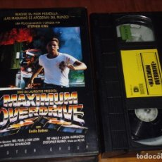 Cine: MAXIMUN OVERDRIVE - STEPHEN KING, EMILIO ESTEVEZ - TERROR - DISTER - VHS. Lote 236834460