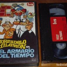 Cine: MORTADELO Y FILEMON . EL ARMARIO DEL TIEMPO - ESTUDIOS VARA - DIBUJOS ANIMADOS - VHS. Lote 237038745