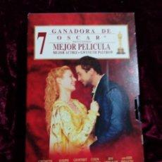 Cine: SHAKESPEARE IN LOVE-COMEDIA ROMANTICA -CINTA VHS. Lote 237040710
