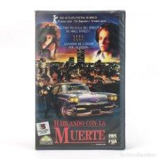 Cine: HABLANDO CON LA MUERTE CINE NEGRO DE SUSPENSE OLIVER STONE ERIC BOGOSIAN ELLEN GREENE / CBS 1988 VHS. Lote 237799580