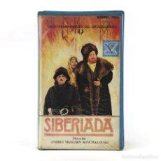 Cine: SIBERIADA PARTE 2 ANDREI MIJALKOV KONCHALOVSKI 1978 REVOLUCIÓN DE OCTUBRE DE 1917 PELICULA VIDEO VHS. Lote 237799845