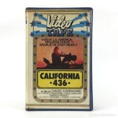 Cine: CALIFORNIA 436 / YOU AND ME DAVID CARRADINE RICHARD CHADBOURNE II BOBBIE SHAW CHANCE DRAMA MOTOS VHS. Lote 237801645