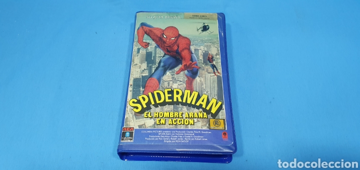PELICULA VHS - SPIDERMAN EL HOMBRE ARAÑA EN ACCIÓN - PRIMERA EDICIÓN 1978 (Cine - Películas - VHS)