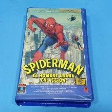 Cine: PELICULA VHS - SPIDERMAN EL HOMBRE ARAÑA EN ACCIÓN - PRIMERA EDICIÓN 1978. Lote 239361525