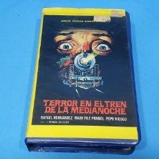 Cine: PELÍCULA VHS - TERROR EN EL TREN DE LA MEDIANOCHE - MANUEL IGLESIAS. Lote 239362695