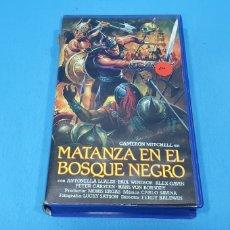 Cine: PELÍCULA VHS - MATANZA EN EL BOSQUE NEGRO. Lote 239556090