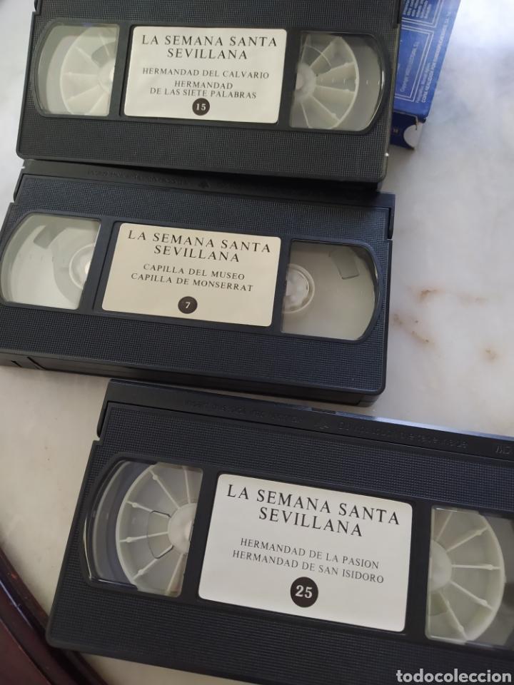 Cine: Lote 13 cintas vhs semana santa sevillana - Foto 2 - 240030215