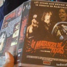 Cine: LA MATANZA DE TEXAS VHS. Lote 240244475