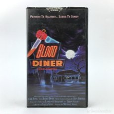 Cine: BLOOD DINER CARATULA RECORTADA JACKIE KONG 1987 / FONDA SANGRIENTA / FEAST 2 SLASHER GORE TERROR VHS. Lote 240729735